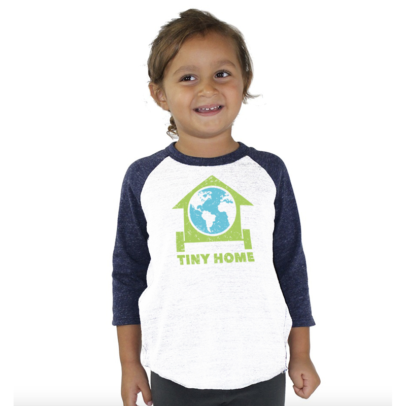 Tiny Home – Toddler Baseball Tee
